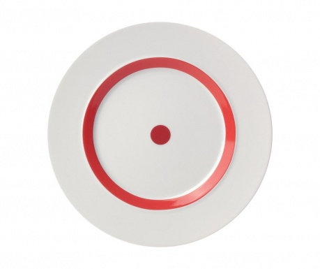 Plytký tanier The Dot Red