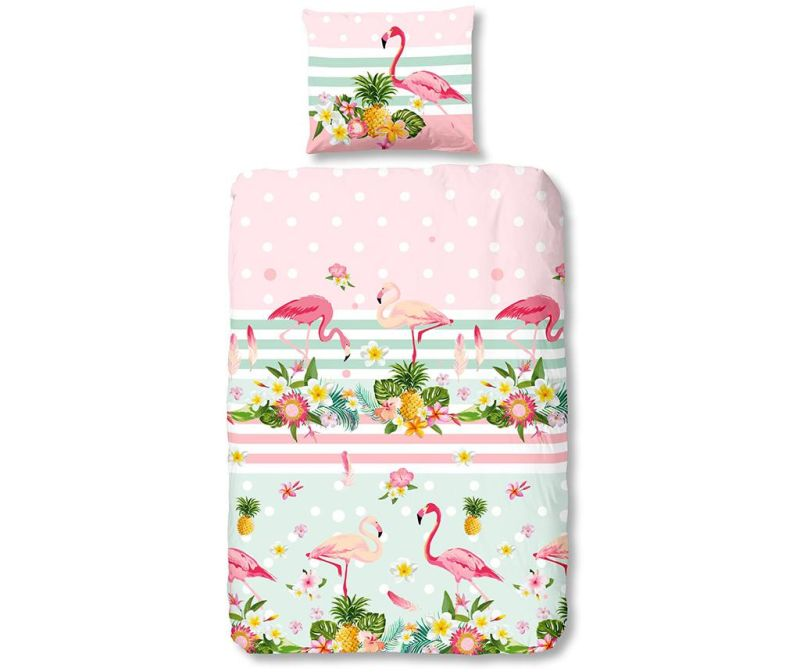 Posteljnina Single Ranforce Flamingo