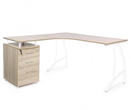 Rohový pracovný stôl Kavita