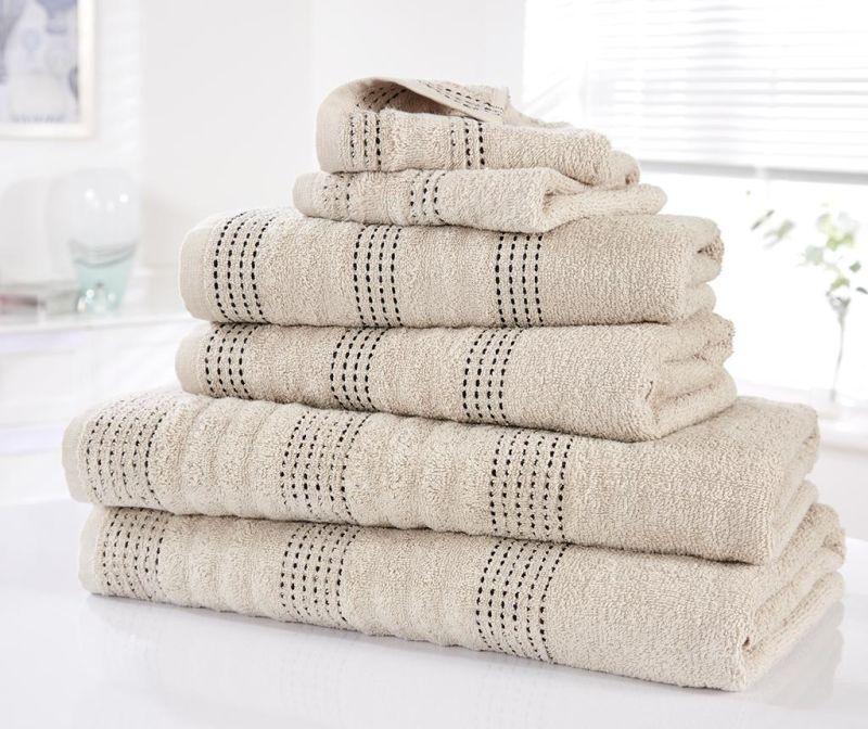 Set 6 kupaonskih ručnika Spa Taupe