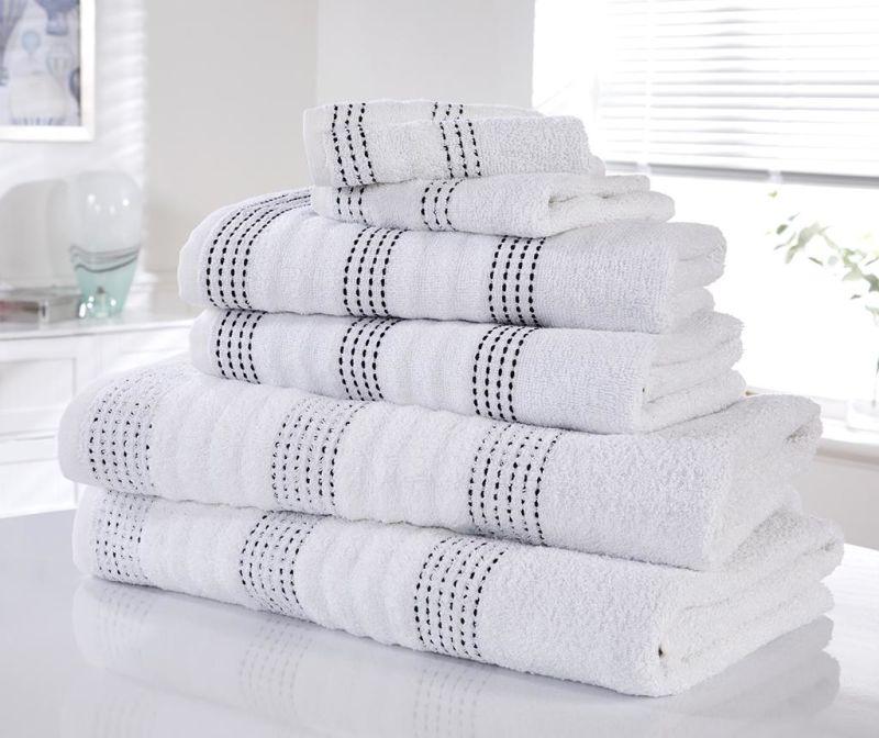 Set 6 kupaonskih ručnika Spa White