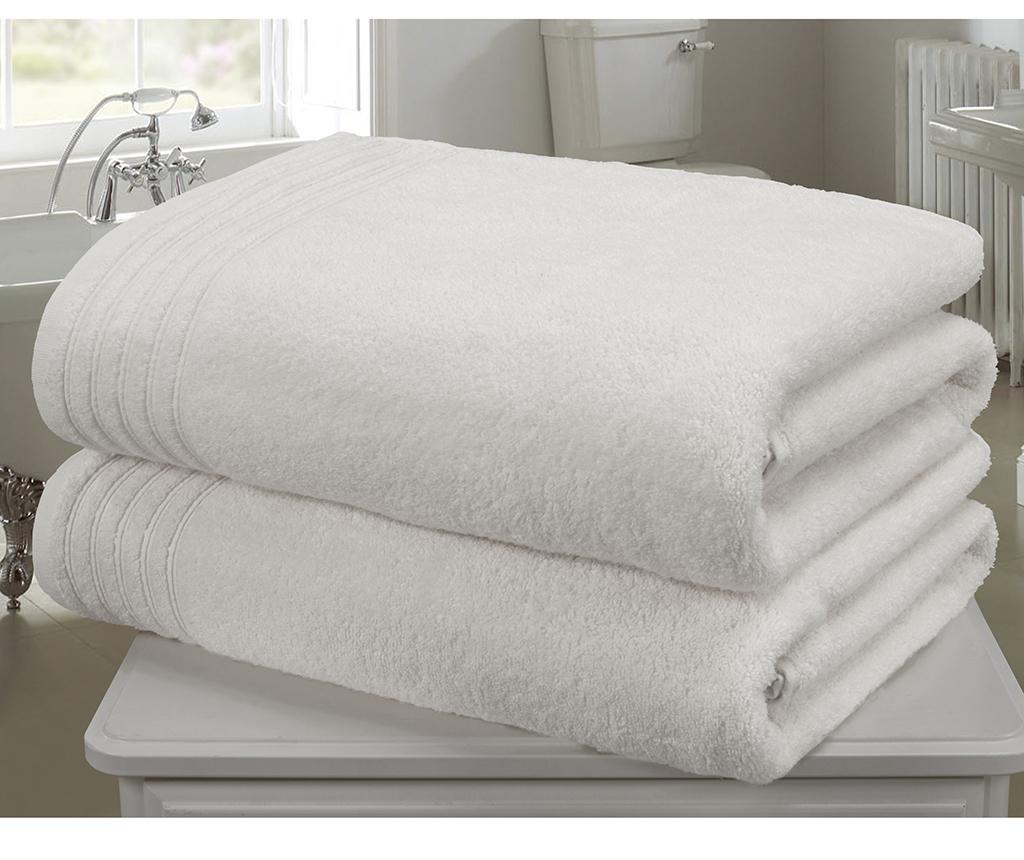 Set 2 kopalniških brisač So Soft White 100x140 cm
