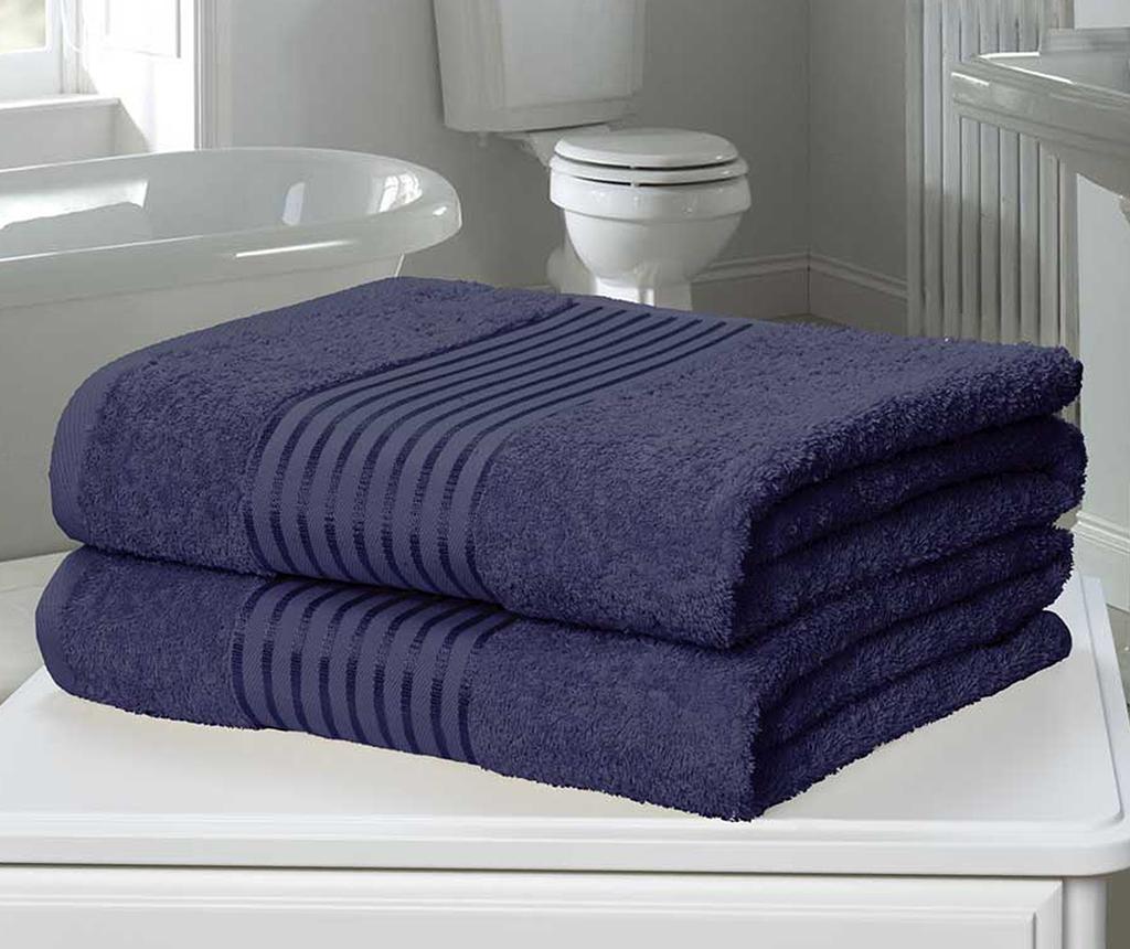 Sada 2 ručníků Windsor Denim 90x140 cm