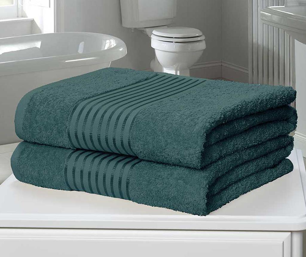 Sada 2 ručníků Windsor Teal 90x140 cm