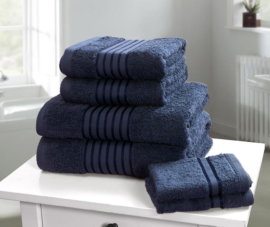 Set 6 kupaonskih ručnika Windsor Denim