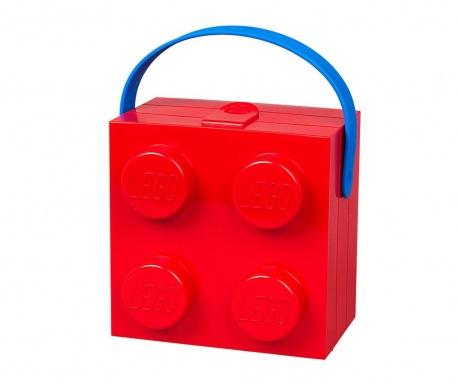 Lego Handle Red Uzsonnás doboz