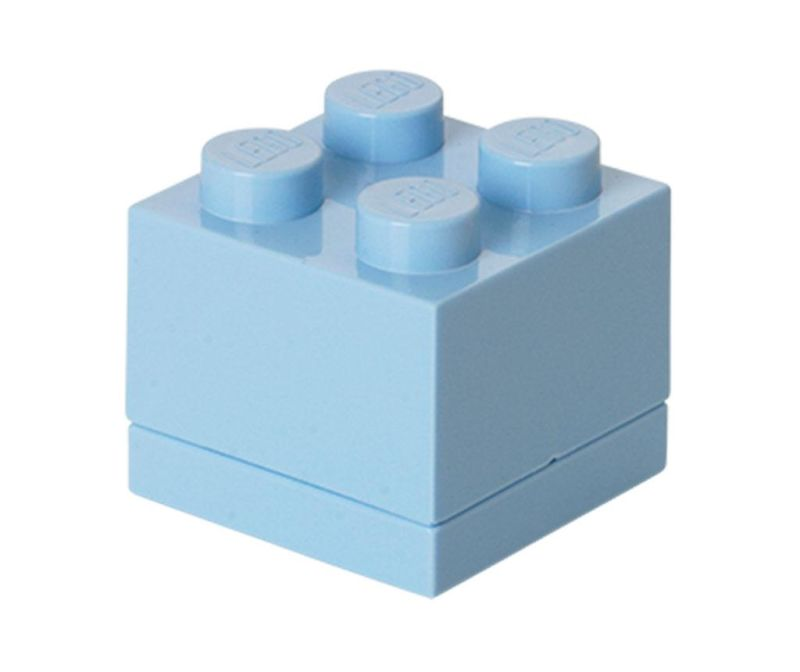 Škatla s pokrovom Lego Mini Square Light Blue