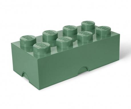 Škatla s pokrovom Lego Rectangular Extra Sand Green