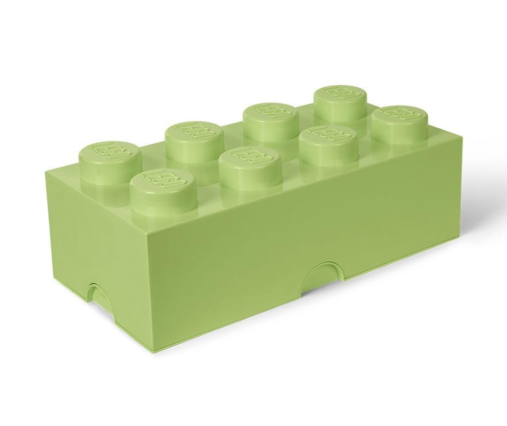 Škatla s pokrovom Lego Rectangular Extra Yellowish Green