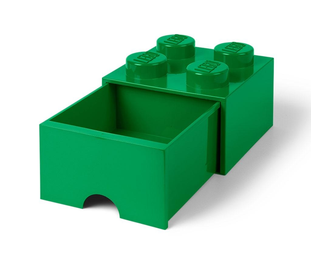 Cutie pentru depozitare Lego Square One Dark Green