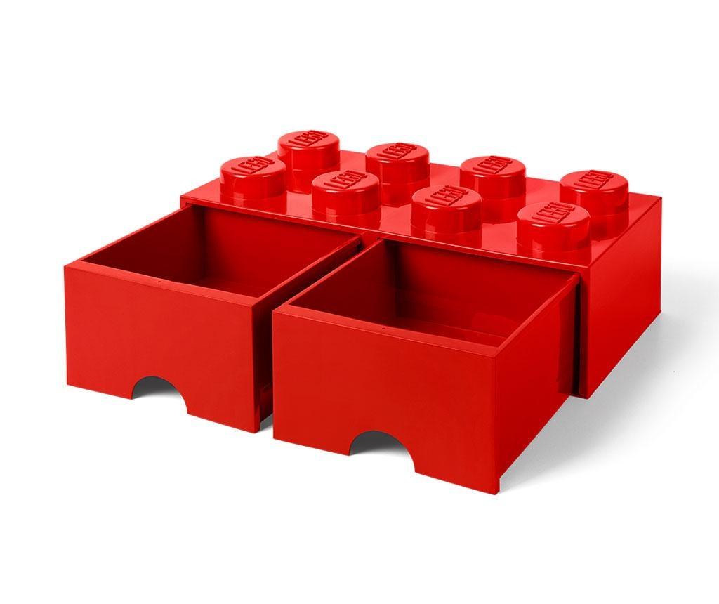 Cutie pentru depozitare Lego Square Duo Red