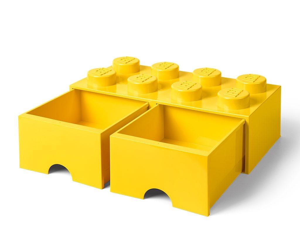 Shranjevalna škatla Lego Square Duo Yellow