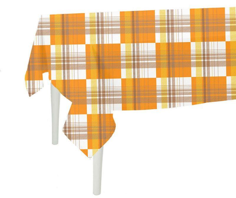Orange Checks Asztalterítő 140x140 cm