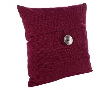 Dekorační polštář Button Bordeaux 45x45 cm