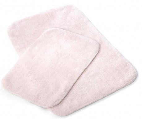 Sada 2 kúpeľňových predložiek Tile Pink