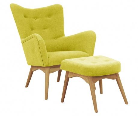 Karl Yellow Fotel és lábzsámoly