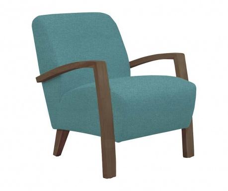 Emilia Light Blue and Dark Wood Fotel