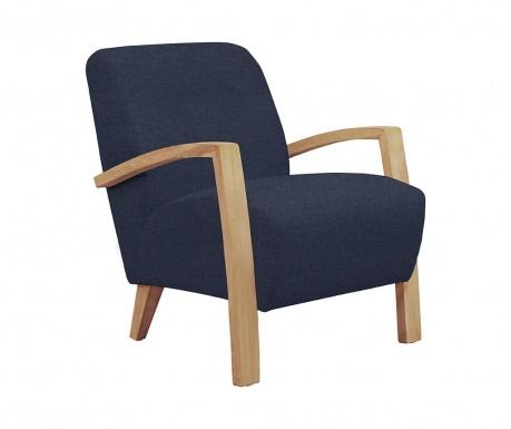 Emilia Blue and Light Wood Fotel