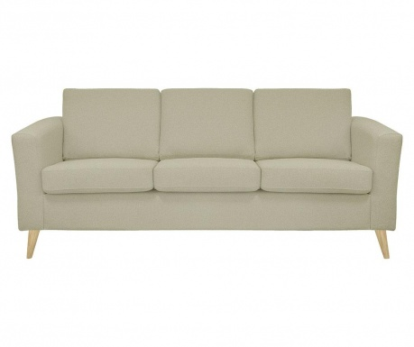 Canapea 3 locuri Alex Sand Wooden Legs