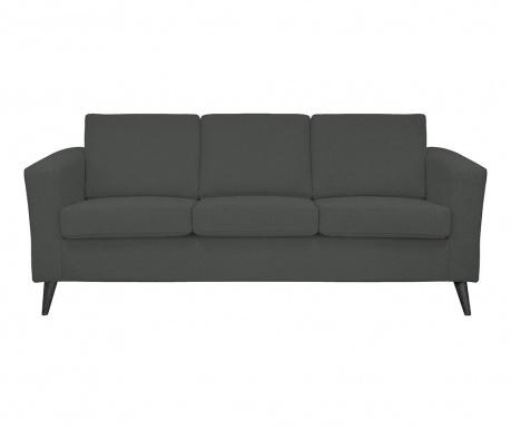 Alex Dark Grey Black Legs Háromszemélyes kanapé