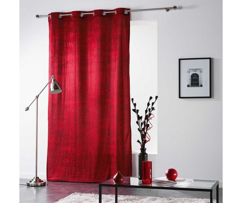 Draperie Verona Red 140x260 cm