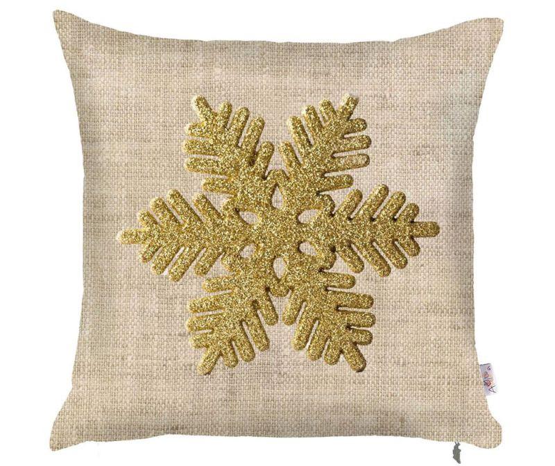 Jastučnica Snowflake Natural 43x43 cm