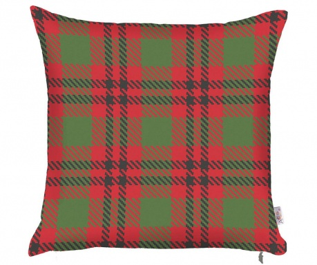 Prevleka za blazino Check Red Green 43x43 cm