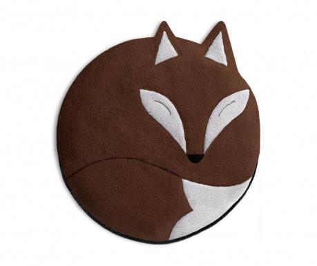 Hrejivý vankúš Luca The Fox Chocolate 25 cm