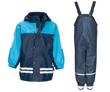 Dětská sada nepromokavá bunda a overal Duo Colors Navy Light Blue 9-12 měs.