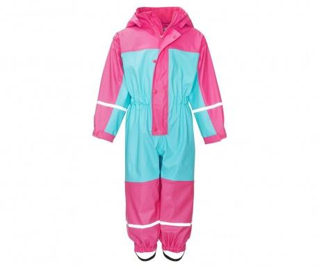 Nepremokavá detská kombinéza Colors Turquoise Pink