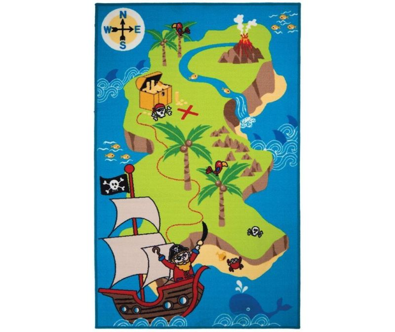 Tepih Pirate Map 100x160cm