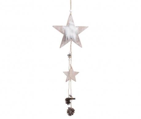 Set 6 decoratiuni suspendabile Star with Pinecones