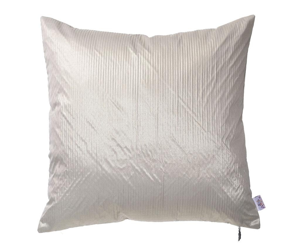 Fata de perna Metallic Grey Cream 43x43 cm