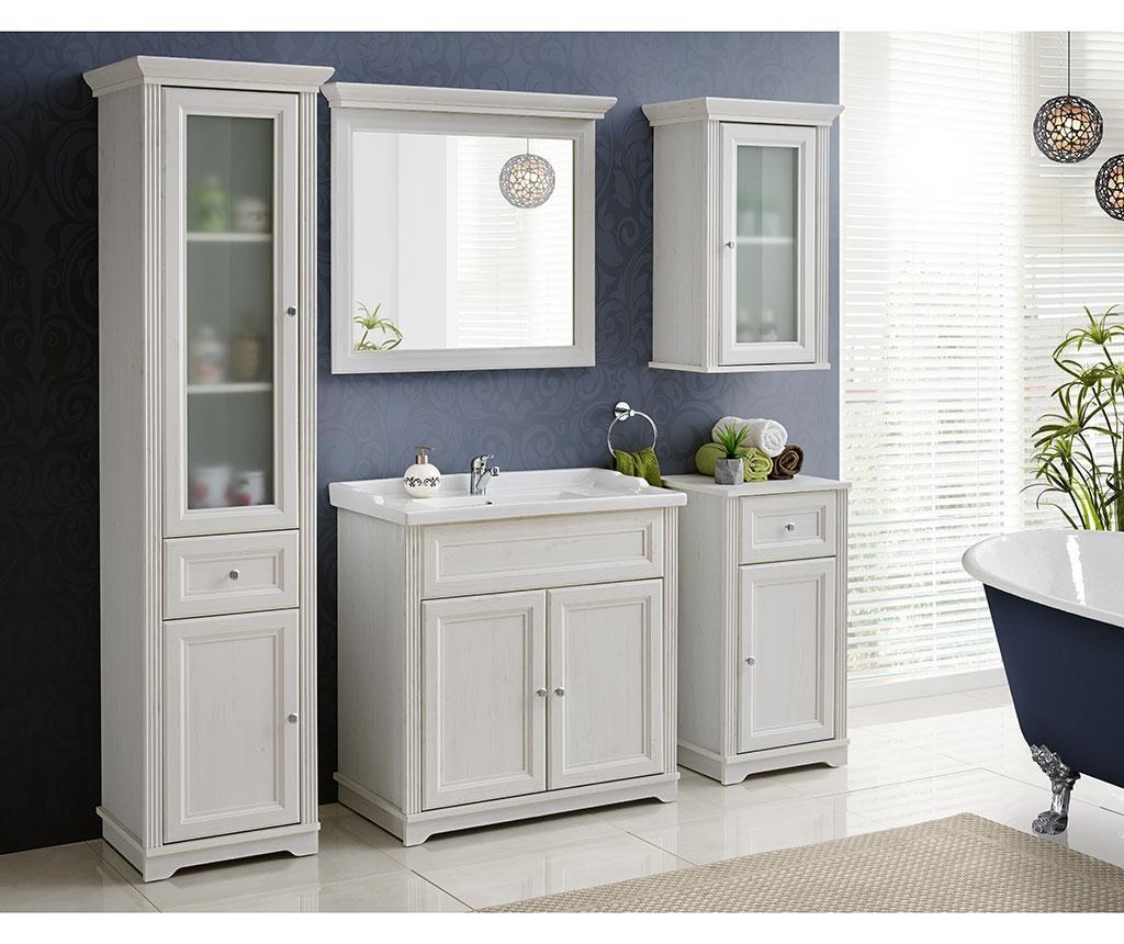 Set ormarić za umivaonik i umivaonik Palace Wide White