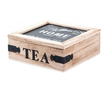 Sweet Home Teatartó doboz fedővel