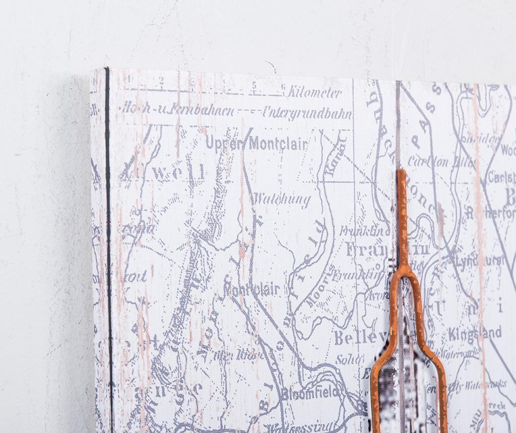 New York Map Kép 60x80 cm