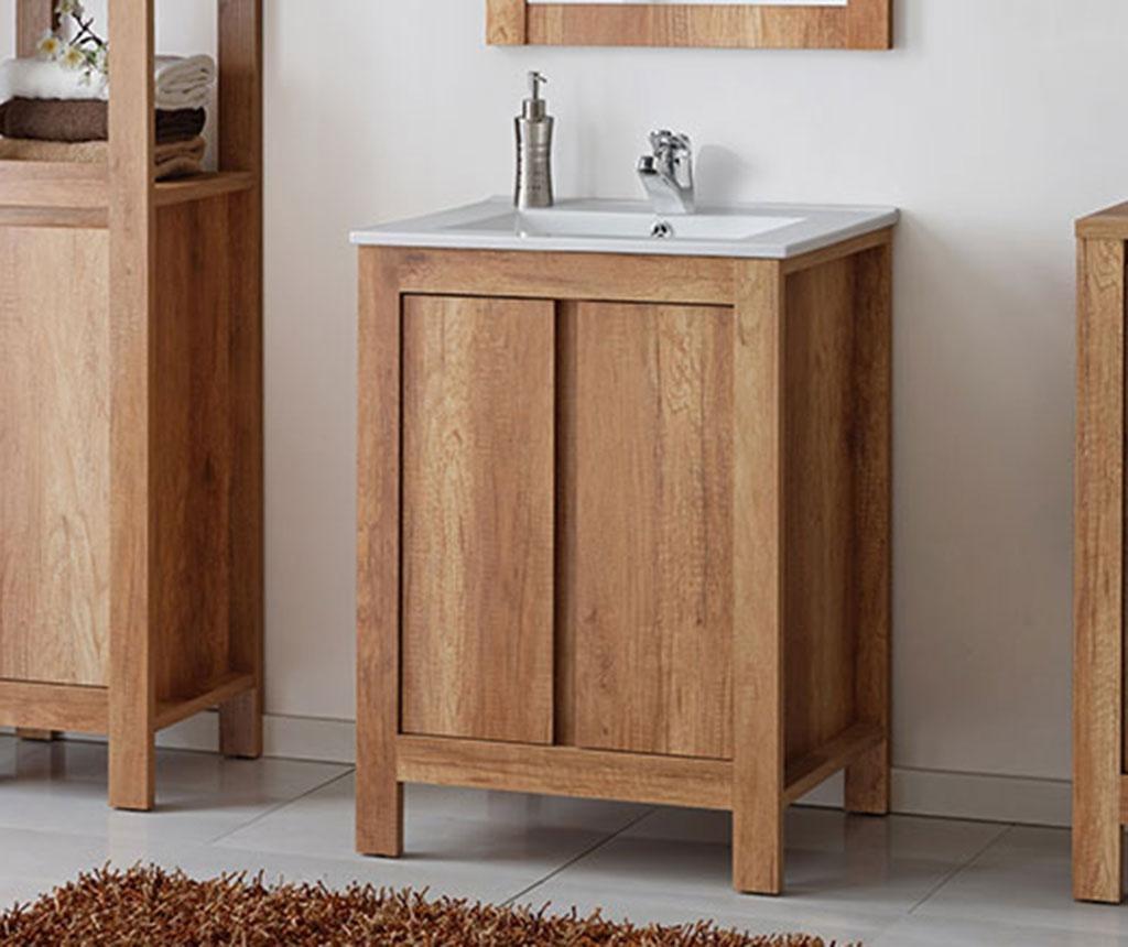 Set ormarić za umivaonik i umivaonik Classic Oak