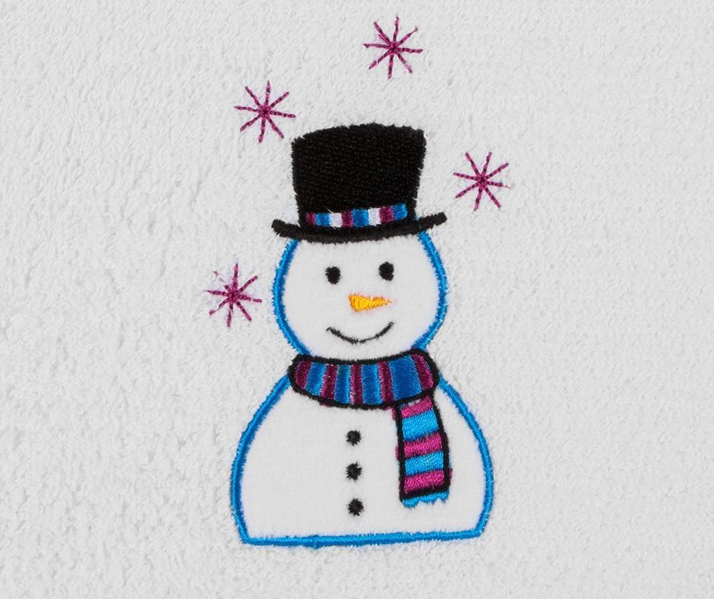 Prosop de baie Smiling Snowman 30x50 cm