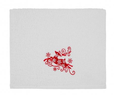 Πετσέτα μπάνιου Reindeer Snowflakes 30x50 cm