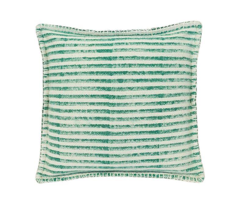 Perna decorativa Lines Green White 50x50 cm