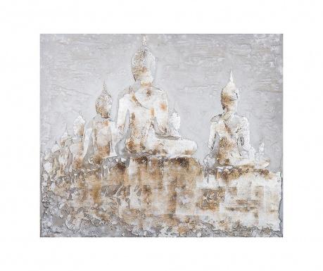 Πίνακας Quebec Buddhas 100x100 cm