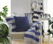 Candy Stripe Navy Blue Pléd 140x180 cm