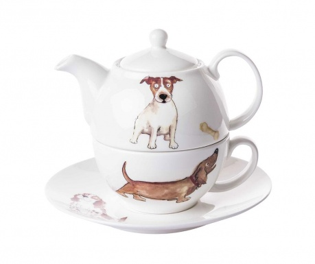 Set - čajnik s skodelico in krožničkom Dogs Home