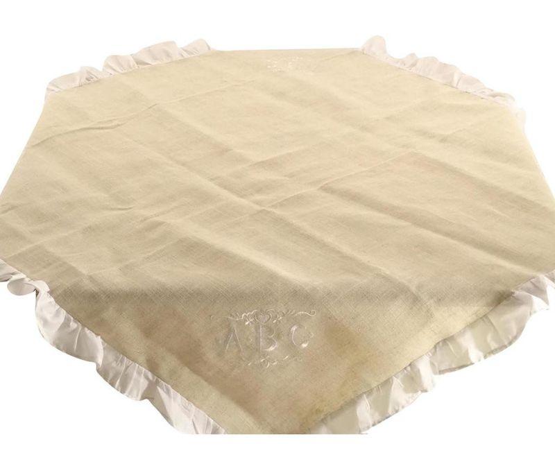 Fata de masa Beige Folders 100x100 cm