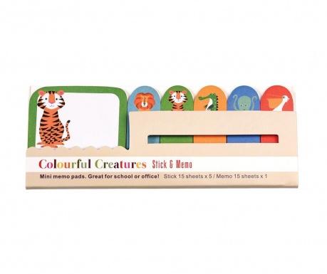 Colourful Creatures 6 db Öntapadó jegyzettömb