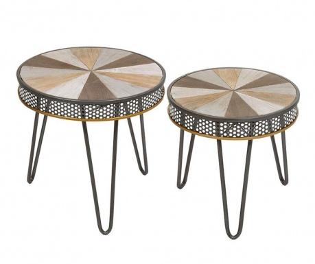 Set 2 stolića za kavu Foucaud Round