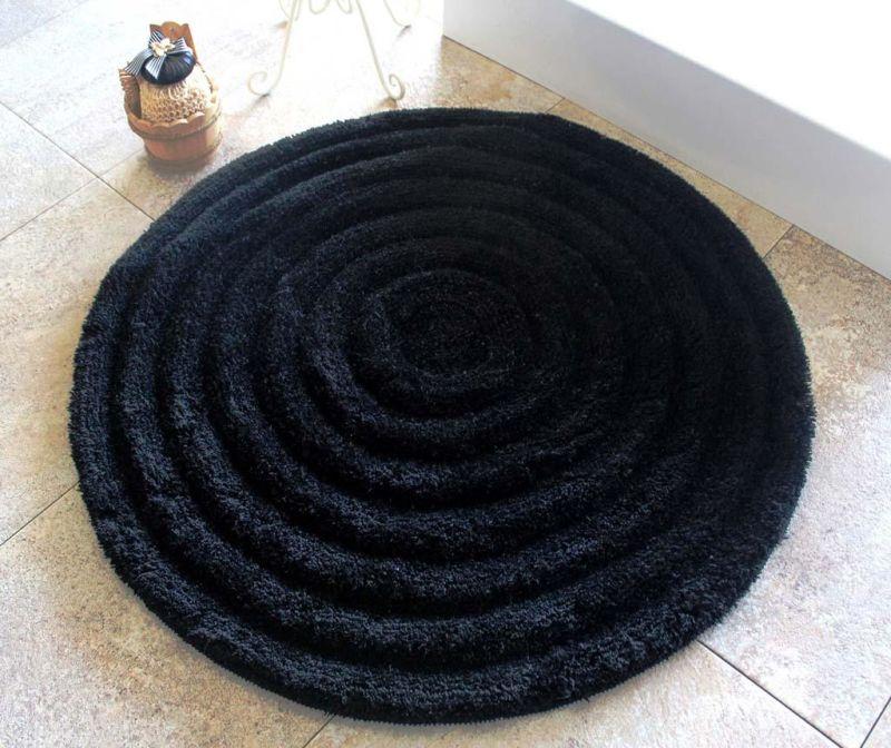 Tepih za kupaonicu Alessia Black 90 cm