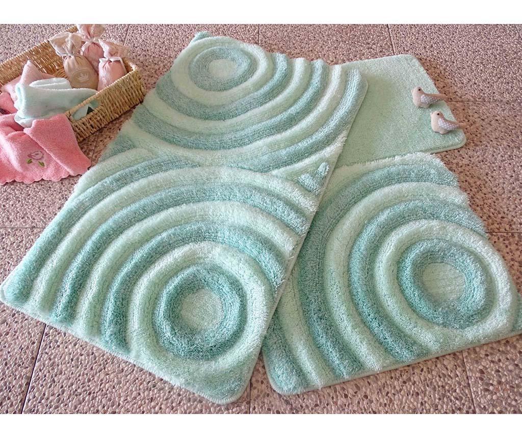 Set 3 tepiha za kupaonicu Wave Mint