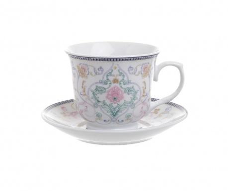 Tea Blue Pink 6 db Csésze és 6 db kistányér