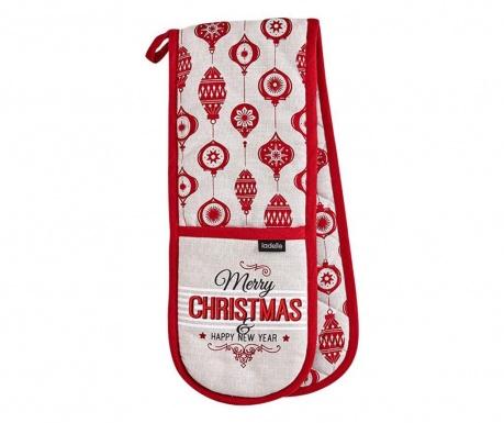 Merry Christmas Dupla konyhai fogókesztyű